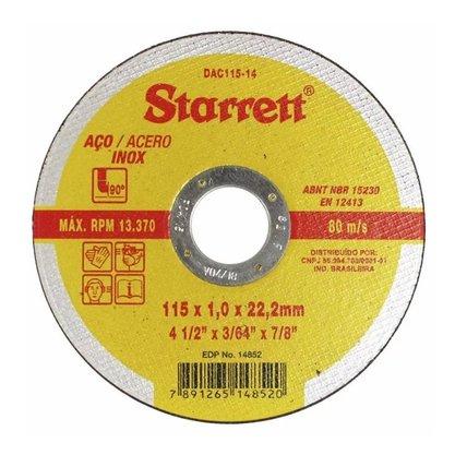 Disco de Corte 4.1/2X1MMX7/8 DAC115-14 STARRETT