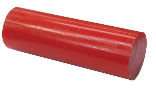 Poliuretano Tarugo SHORE 90 35X300MM Vermelho